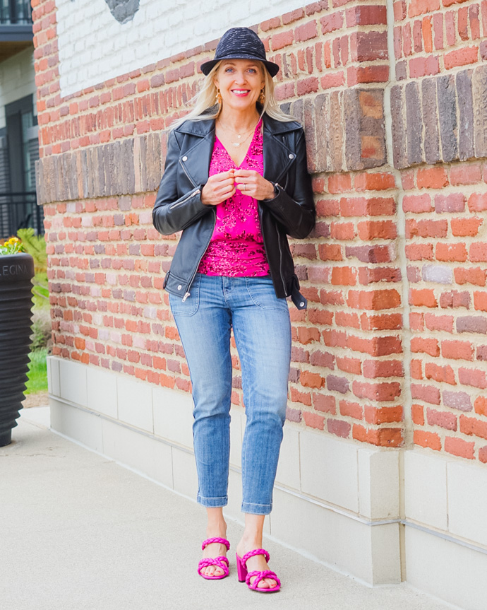 how to rock bright pink this season
